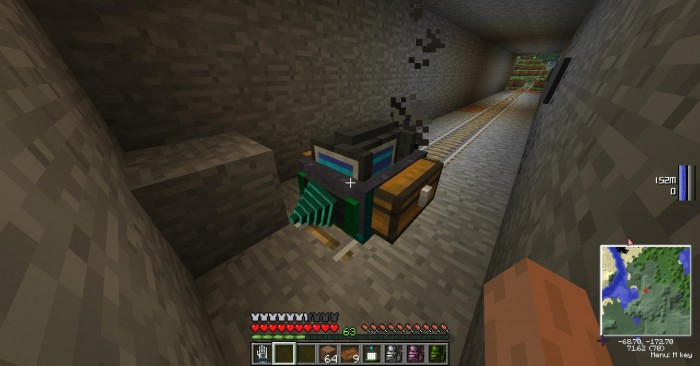 Footage taken from a test run of my new automatic mining cart, it even places railways and will build bridges should the altitude change. I might use it to make a highway at some point... maybe..